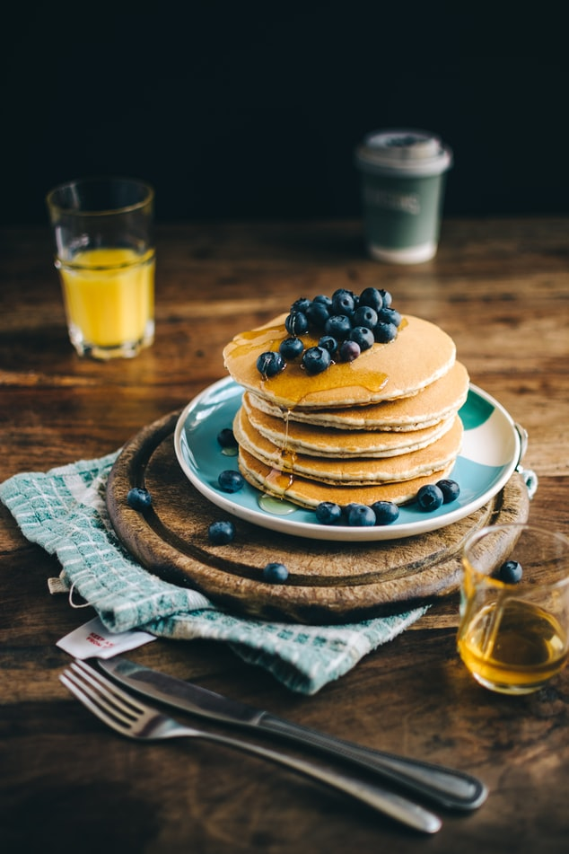 pancakes with bluberries