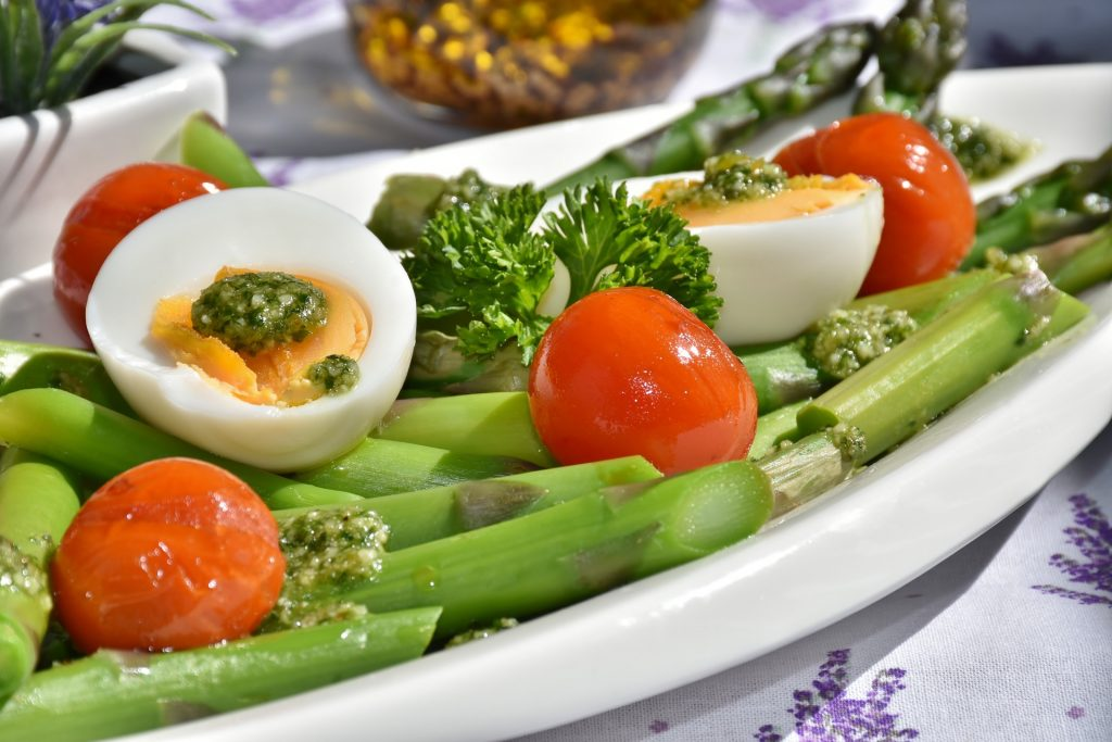 eggs asparagus tomatoes healthy diet